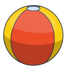 colorful beach ball icon cartoon style vector image