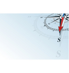 compass south background vector image