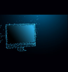 computer display all-in-one desktop personal vector image