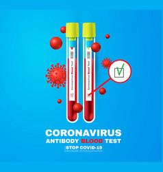 Coronavirus antibody blood test positive result vector
