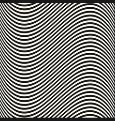 curved wavy lines seamless pattern texture vector image