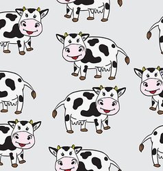 cute cow pattern vector image
