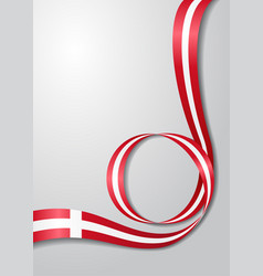 Danish flag wavy background vector