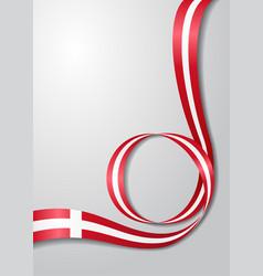 Danish flag wavy background vector