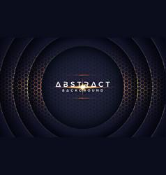 dark 3d circle paper cut background vector image