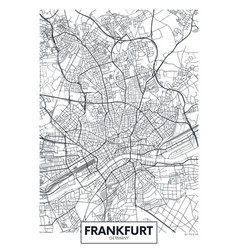 Detailed poster city map frankfurt vector