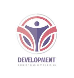 Development business logo template design element vector