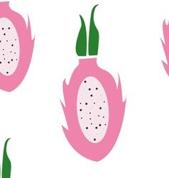 Dragon fruit pattern vector image