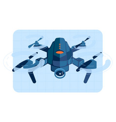 drone copter in flight vector image