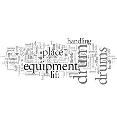 drum lifts vector image