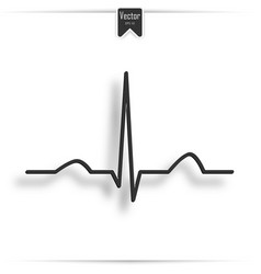 electrocardiogram ecg ekg - medical icon vector image