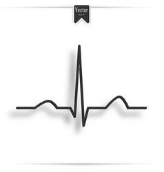 Electrocardiogram ecg ekg - medical icon vector