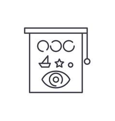 eyesight check line icon concept eyesight check vector image
