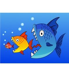 Fish eat fish vector