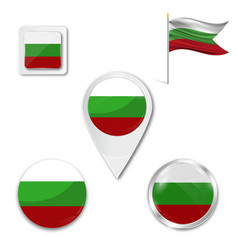 Flag bulgaria vector
