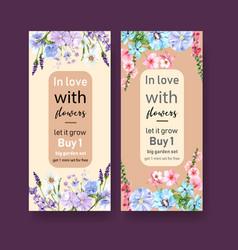 Flower garden flyer design with morning glory vector