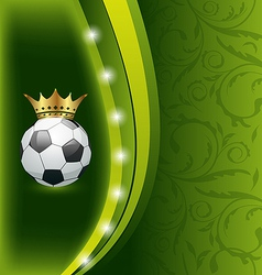 Football card with ball and crown vector image
