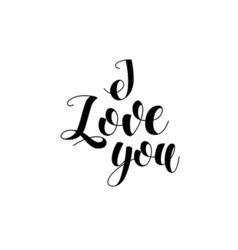 Greeting card for Valentines day I love you Hand vector