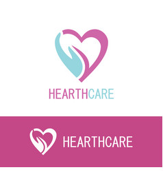 Hand hearth care logo vector