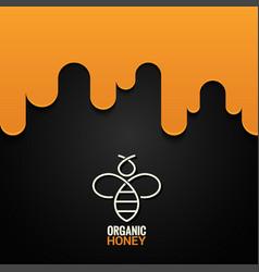 honey bee logo design background vector image