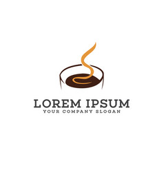 hot coffee logo design concept template vector image