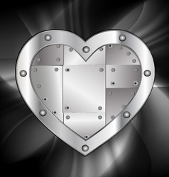 Large metal heart vector