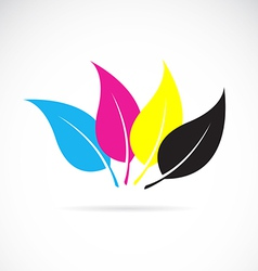 Leaves cmyk vector image