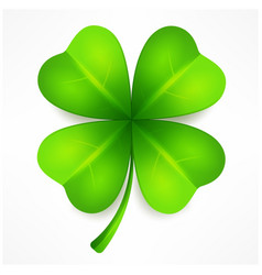 Lucky clover leaf vector