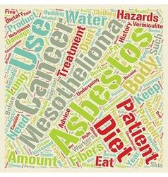Mesothelioma History Hazards and Dietary Advice vector