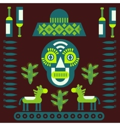 Mexican decorative elements vector
