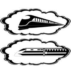 Modern locomotives vector