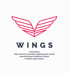 modern wings logo vector image