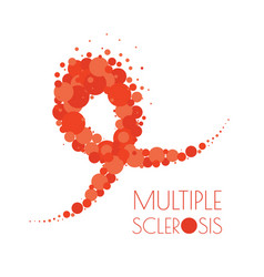 Multiple sclerosis dotted ribbon vector