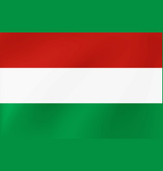 national flag hungary for vector image