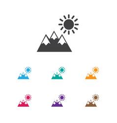 Of trip symbol on pinnacle vector