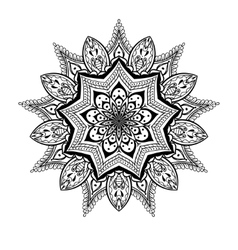 Ornamental Lotus mandala ethnic zentangled vector