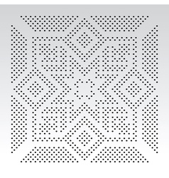 Ornamental slavic dot pattern vector