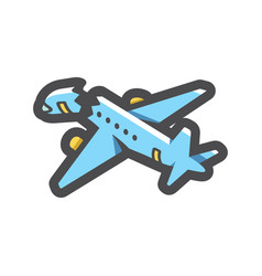 Passenger air plane crash icon cartoon vector