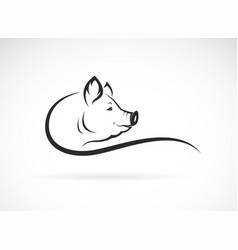 pig head design on white background farm vector image