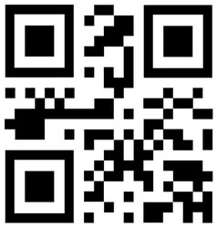 Qr code says HOT DEALS vector image