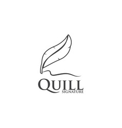 quill logo design template vector image
