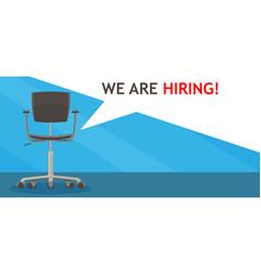 recruitment job sign employer flat background vector image