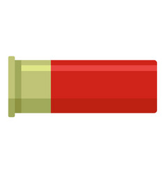 Red cartridge icon flat style vector