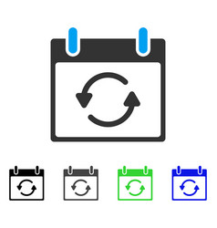 Refresh calendar day flat icon vector