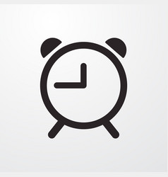 Reminder clock sign icon flat design style vector