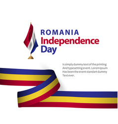 Romania independence day template design vector
