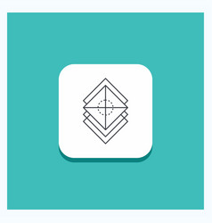 Round button for arrange design layers stack vector