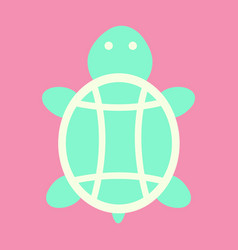 Sea turtle hand drawn turtle isolated vector