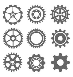 ser gear icon on the gray background vector image
