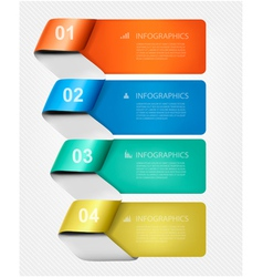 Set of info graphics banners with numbers vector